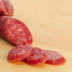 Cured wild boar sausage